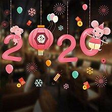 Sticker Wander Frohes Neues Jahr 2020 Cartoon Maus