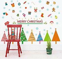 Sticker Wandfarbe Weihnachtsbaum Sockelleiste