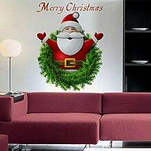 Sticker Wandfrohe Weihnachten Cartoon
