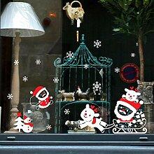 Sticker Wandfrohe Weihnachten Schneemann Removable