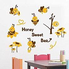 Sticker Wandhonig Süße Biene Kleine Biene