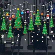 Sticker Wandweihnachtsfest Aufkleber Fenster