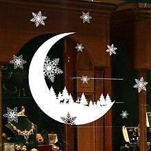 Sticker Wandweihnachtsschmuck Für Zuhause Schnee