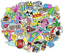 Stickerbombe aufkleber 400 sticker graffiti macbook iphone skateboard vinyl pop art aufkleber Sortiert Sticker Pack Snowboard Gepäck Koffer iPhone Auto Fahrrad Bumper Bomb Pack - Vintage Retro Pop Ar