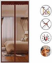 Stickerei Fliegengitter Tür,vollen Rahmen Velcro