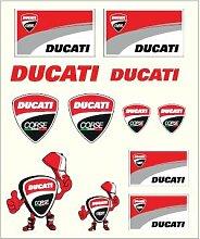 Stickers moyens Ducati - Multicolore