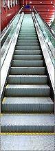 stickersnews–Tür–Irre L Auge Déco Rolltreppe 73x 204cm OEM 599