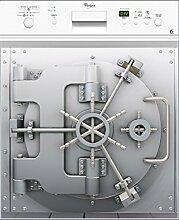 stickersnews–Wandtattoo Spülmaschine Tresor Maße–60x 60cm