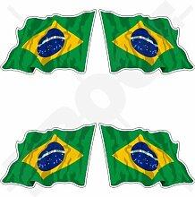 StickersWorld Aufkleber brasilianische Flagge in