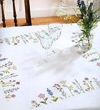 Stickpackung Tischdecke Blumenwiese 67216, Kreuzstich vorgezeichne