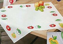 Stickpackung Tischdecke Bunte Äpfel, gezählter Kreuzstich