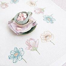 Stickpackung Tischdecke Drei Blüten, Kreuzstich vorgezeichnet * neue Frühjahrskollektion 2014