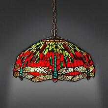 Stiel Tiffany-Lampen Restaurant Lichter Kronleuchter komplexen europäischen klassischen Stil handgemachten LED-Lampen