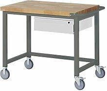 STIER Fahrbare Werkbank, Premium, mit 1 Schublade,