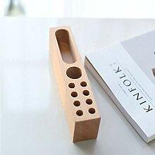 Stifthalter aus Buchenholz, Stiftehalter,