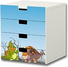 Stikkipix Dinosaurier Möbelsticker/Aufkleber -