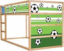 Stikkipix Fussball Möbelsticker/Aufkleber für
