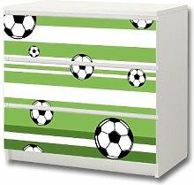 Stikkipix Fußball Möbelsticker/Aufkleber - M3K10