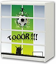 STIKKIPIX Fußball Möbelsticker/Aufkleber - M4K08
