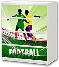 STIKKIPIX Fußball Möbelsticker/Aufkleber - M4K12
