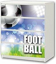 STIKKIPIX Fußball Möbelsticker/Aufkleber - M4K24