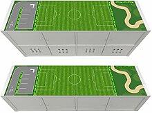 Stikkipix Fußballplatz Möbelfolie | KSWL12 | passend für das Regal KALLAX von IKEA - (Möbel nicht inklusive)