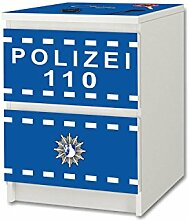 Stikkipix Polizei Möbelfolie/Aufkleber - NS49 -