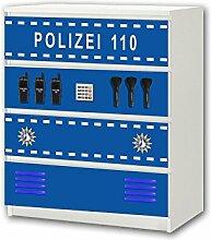 STIKKIPIX Polizei Möbelsticker/Aufkleber - M4K21