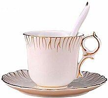 Stil Gold Keramik Kaffeetasse Und Saucer
