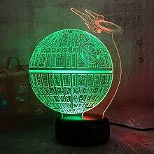 Stil Star Wars Todesstern Glanz 3D LED RGB 7 Mixed