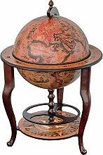 Stilemo Globus bar im Antikdesign - Globusbar in