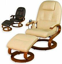 STILISTA® Massagesessel im S-Design, Farbvarianten, HEIZFUNKTION, extra dicke Polsterung, XXL Lehne, creme-beige