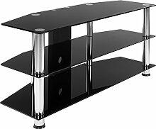 STILISTA TV Rack Glas Tisch, 110 x 50 x 40 cm, 8