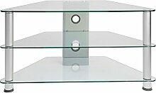 STILISTA TV Rack Glas Tisch, 96 x 46 x 50 cm, 8 mm