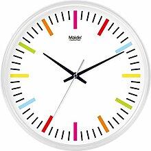 Stille, nicht-tickende Quarz-Digital-Wanduhr mit Glasabdeckung ( farbe : Weiß , größe : 10 inch )
