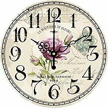 Stille Wanduhr/Digitale Wanduhr, dekorative Uhr
