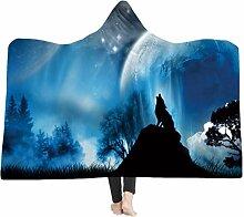 Stillshine Kuscheldecke, 3D Wolf Plüschdecke