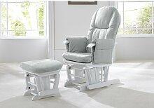 Stillstuhl mit Hocker Tutti Bambini Farbe: Weiß