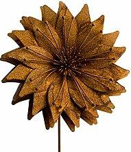 STILTREU Blumenstecker Sonnenblume, Edelrost,