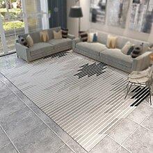Stilvolle Anti-Rutsch-Teppich / Wohnzimmer Sofa Couchtisch geometrische Teppich / Schlafzimmer Nacht Haus Teppich / gestreiften Gitter einfachen Teppich ( größe : 120*160cm )