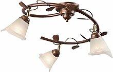 Stilvolle Deckenlampe LOELLA Shabby Braun antik