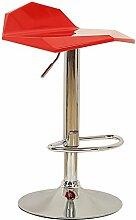 Stilvolle einfache Haus Bar Stuhl / Bar Stuhl / einfache Aufzug Rotation Bar Stuhl Stuhl / Rezeption Bar Stuhl ( Farbe : Rot )