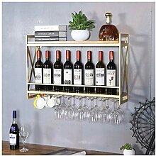Stilvolle Einfachheit Industrielle Weinregale zur