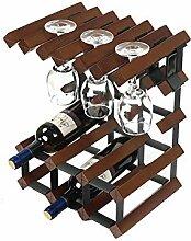Stilvolle Einfachheit Weinregal Massivholz Wein