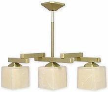 Stilvolle Hängeleuchte Gold Weiß Bauhaus E27 bis