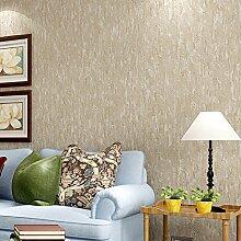 """Stilvolle Retro Tapete Abstrakt Muster von Rauch Grau meliert Zement Faserstoff Uni Wohnzimmer Kleidung STORE Tapete 0,53m (52,8cm) * 10Mio. (32,8') M = 5.3sqm (M³), Only the wallpaper, Beige """"906"""