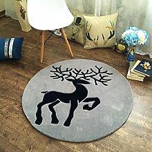 Stilvolle runde Teppich / individuelle Wohnzimmer Schlafzimmer Studie Nachtkran Stuhl Matte / Computer Stuhl runden Teppich / ( größe : Diameter 150cm )
