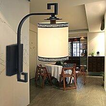 Stilvolle Schicke Moderne Wand-Helle Lampen-Wand-Leuchter / Weinlese-Industrielle Metallwand-Lampe Der Leiter der Wandleuchten Qualität chinesischer Rund, 16 * 41 cm Wandleuchten
