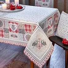 Stilvolle Tischdecke im alpinen Landhausstil