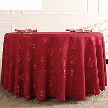 Stilvolle Tischdecke,Westlichen Tischdecke,Der Stil Der Runde Tischdecke,Roten Tisch Tuch Restaurant Tischdecken-A Durchmesser180cm(71inch)